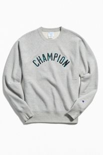 33b681e6d6ed Slide View  1  Champion UO Exclusive Plaid Fill Logo Reverse Weave Crew  Neck Sweatshirt