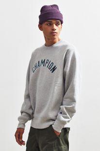 6881901a3c27 Slide View  3  Champion UO Exclusive Plaid Fill Logo Reverse Weave Crew  Neck Sweatshirt