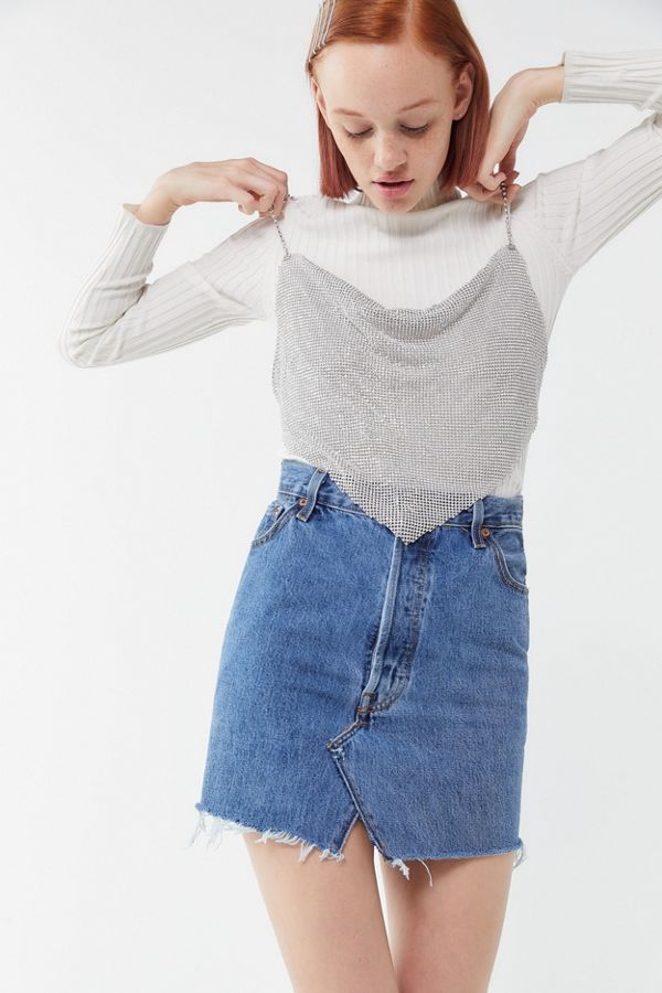 ef750b99e8e UO That's Hot Sparkly Handkerchief Top | Urban Outfitters