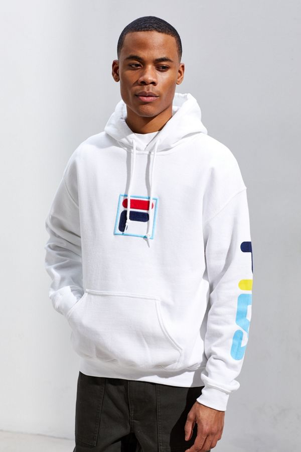 4938b3de31b3 Slide View: 1: FILA UO Exclusive '90s Puff Ink Logo Hoodie Sweatshirt