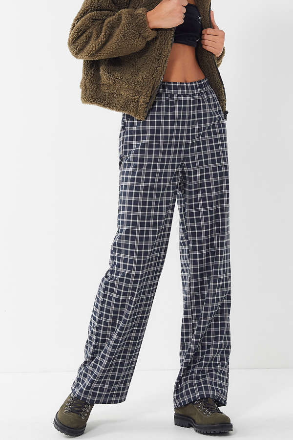 3fc453d344bab UO Plaid High-Rise Pull-On Trouser Pant | Urban Outfitters
