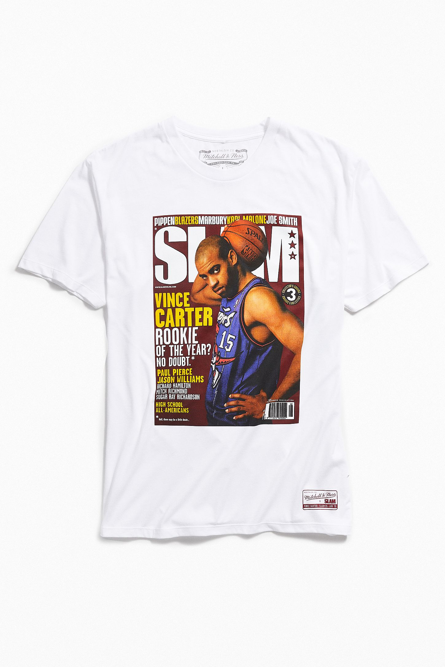 reputable site eda07 c1a1b Mitchell & Ness Vince Carter Slam Cover Tee