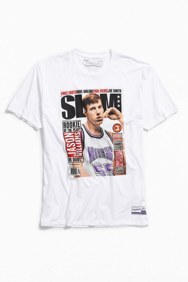 reputable site a9d98 89080 Mitchell & Ness Jason Williams Slam Cover Tee