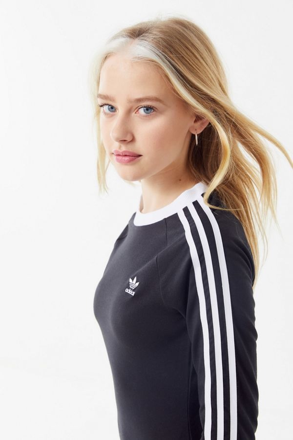 Slide View: 2: adidas 3-Stripes Bodycon Mini Dress