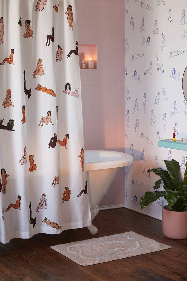 Slide View 1 Bathing Beauties Shower Curtain