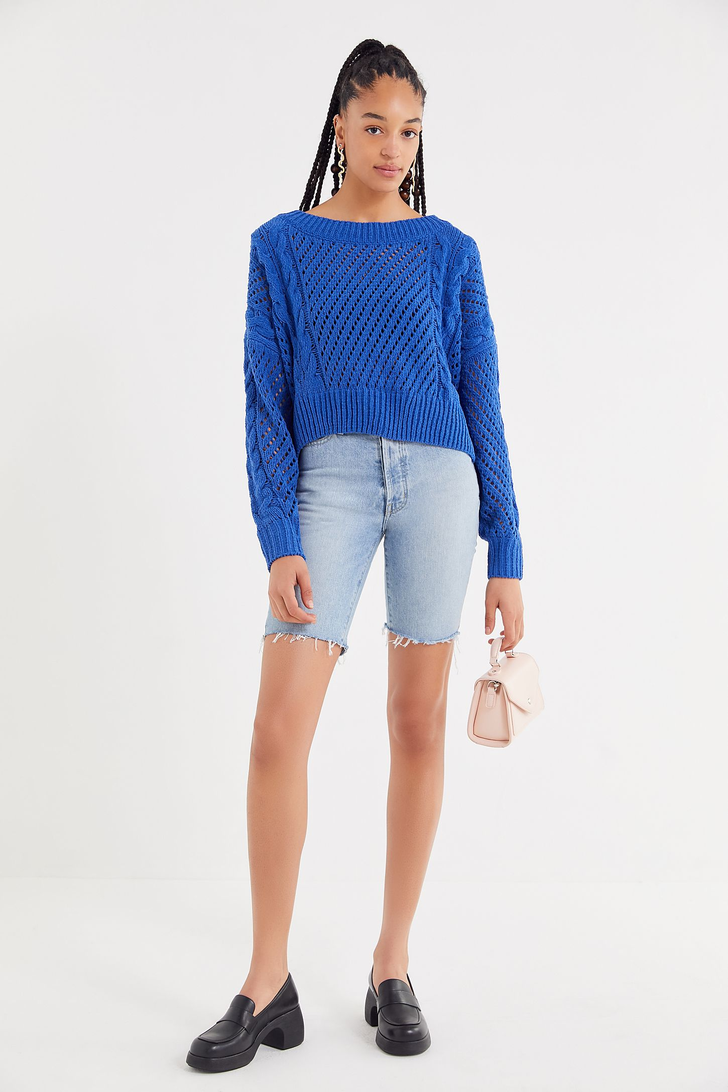 b2bd8d442 UO Rosie Oversized Plush Knit Sweater | Urban Outfitters