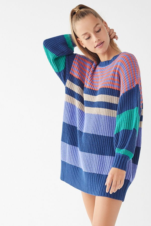 018b5a634d1 UO Whistler Striped Sweater Dress