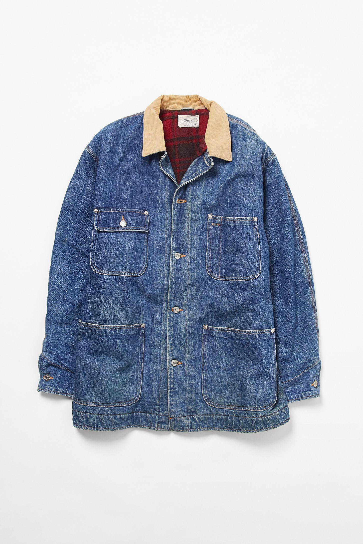 62f173d296e3a3 Vintage Polo Ralph Lauren Longline Oversized Denim Jacket