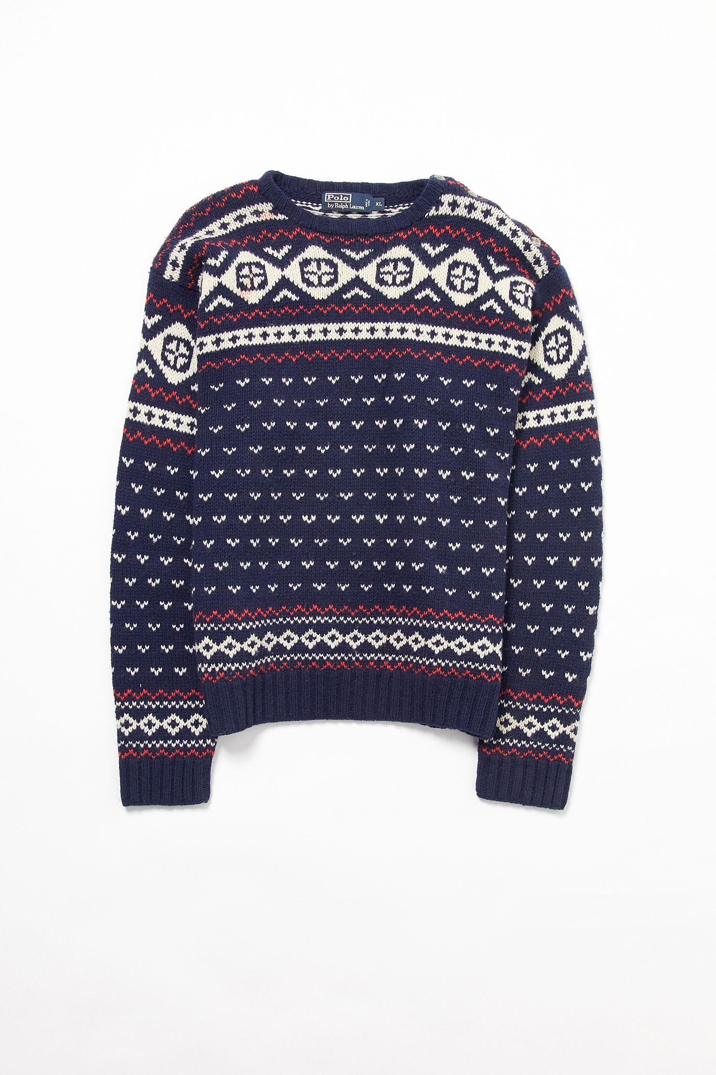 1a9802350 Vintage Polo Ralph Lauren Fair Isle Sweater
