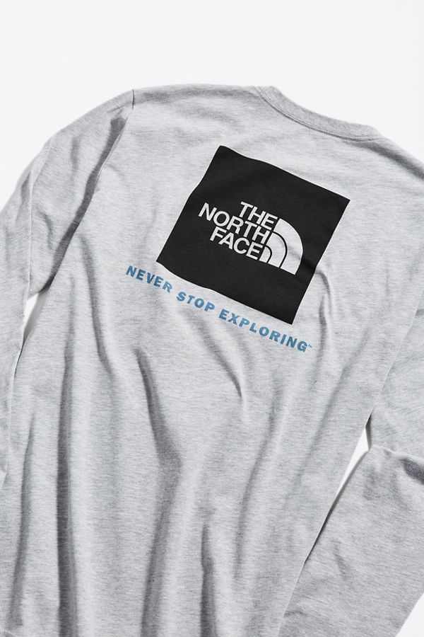 014acf5e8 The North Face Box Logo Long Sleeve Tee