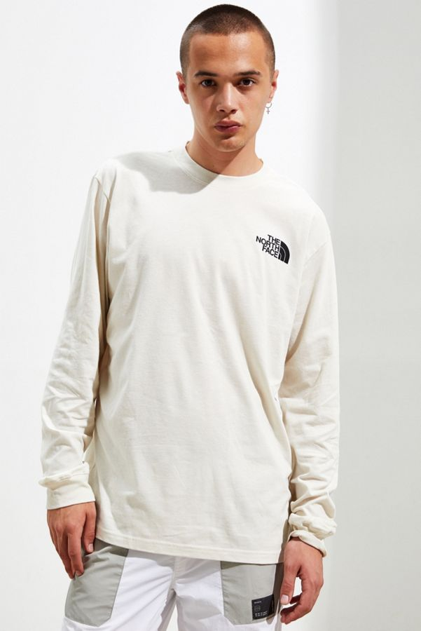 The North Face Box Logo Long Sleeve Ivory Tee by The North Face