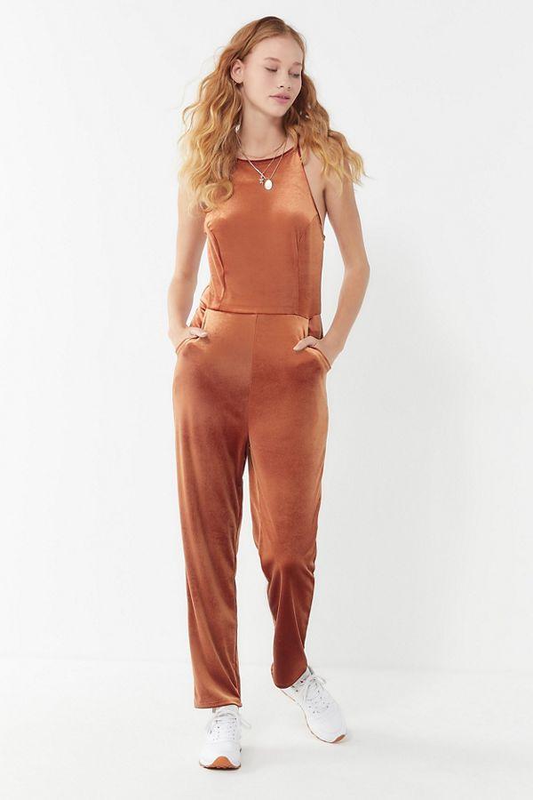 ed75de41f72 Slide View  1  UO Naomi Velvet Jumpsuit
