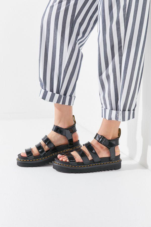 0d7992307d832 Dr. Martens Blaire Patent Lamper Sandal | Urban Outfitters