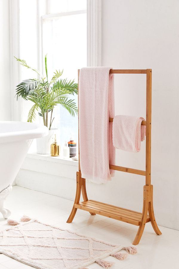 Slide View: 1: Bamboo Towel Rack