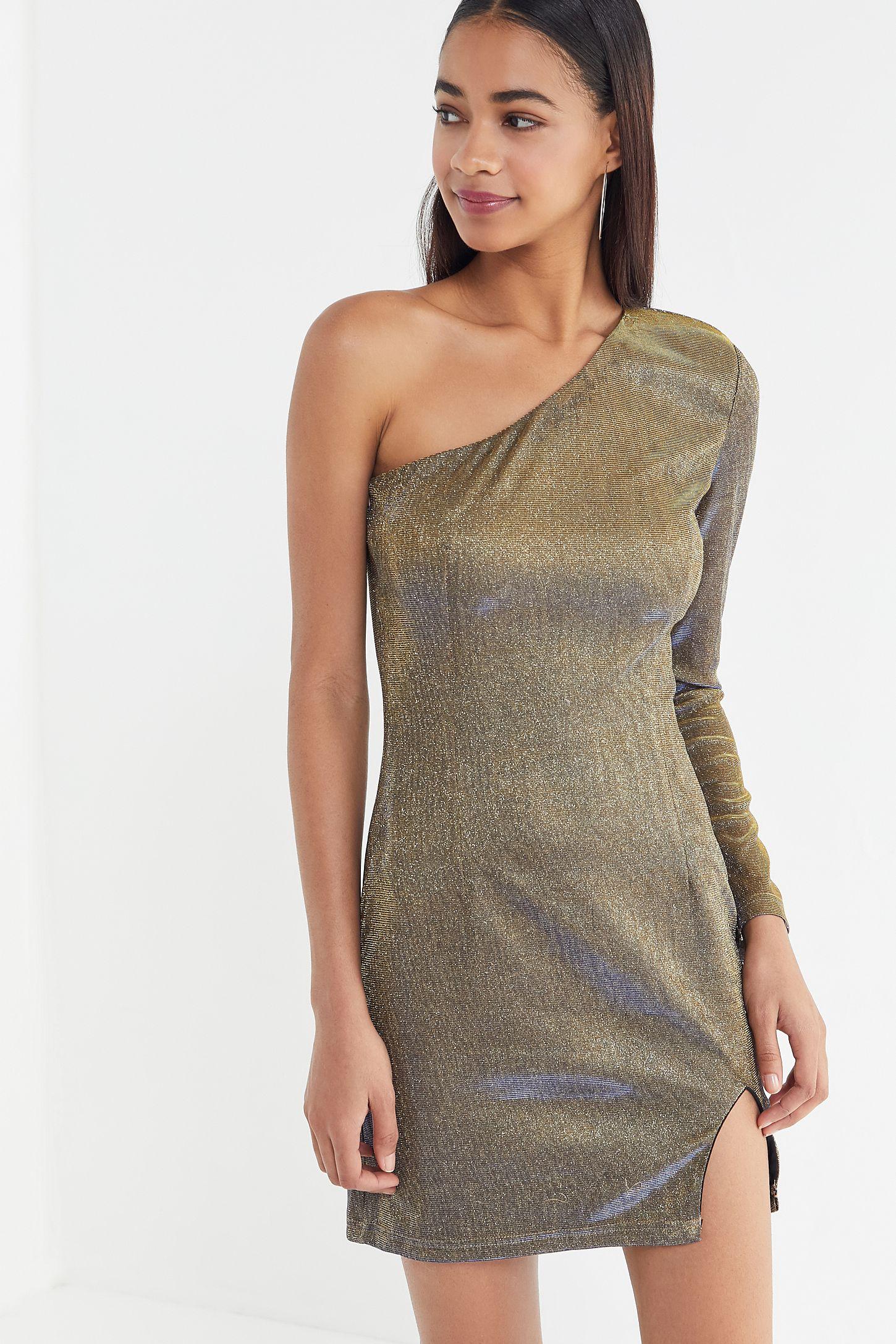 hot products sale online official site Tiger Mist Serene Sparkly One-Shoulder Mini Dress
