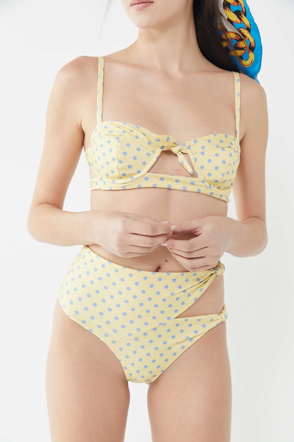 For Love & Lemons Limoncello Tie Front Underwire Bikini Top by For Love &Amp; Lemons