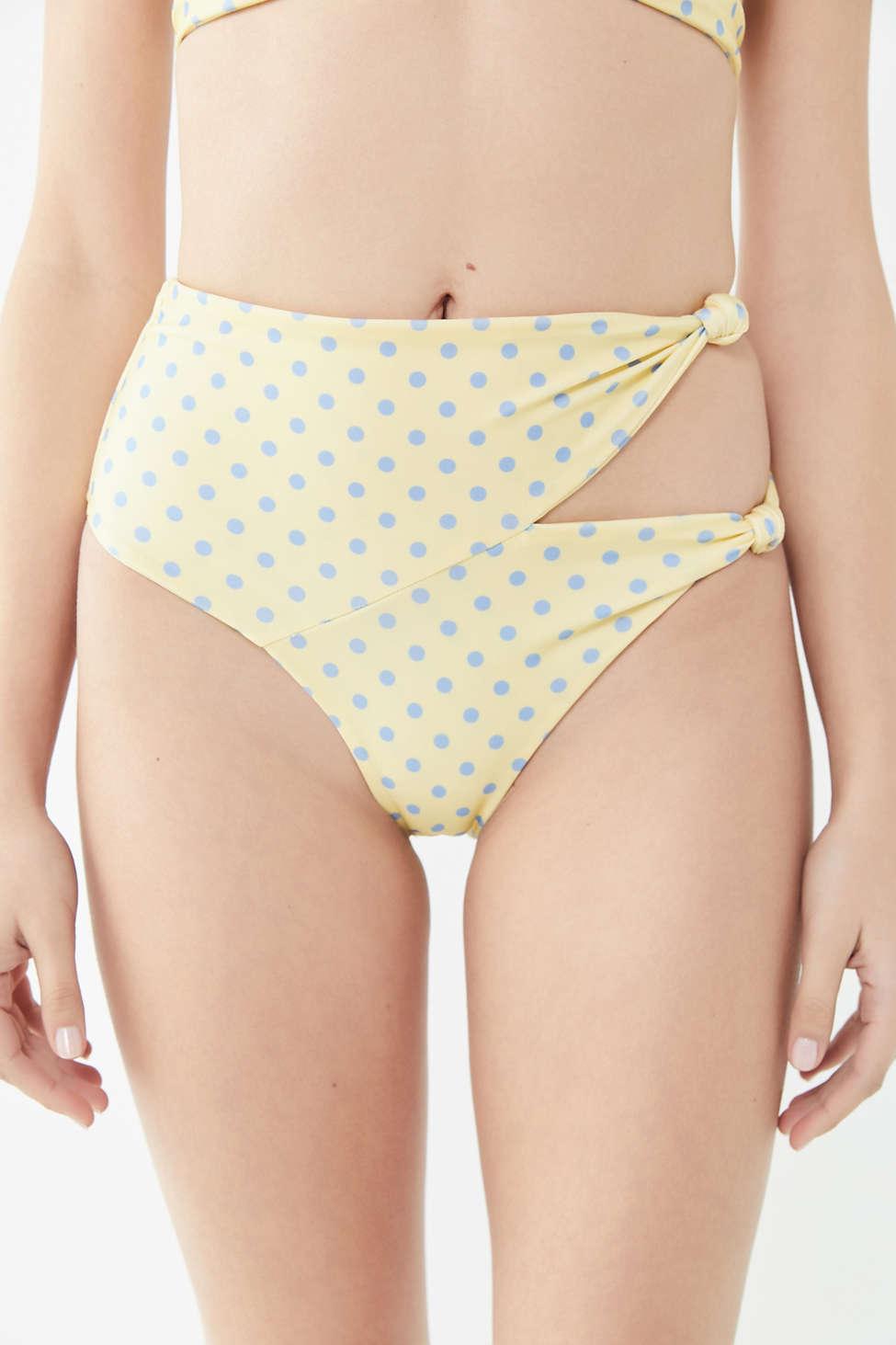 For Love & Lemons Limoncello Knotted High Waisted Bikini Bottom by For Love &Amp; Lemons