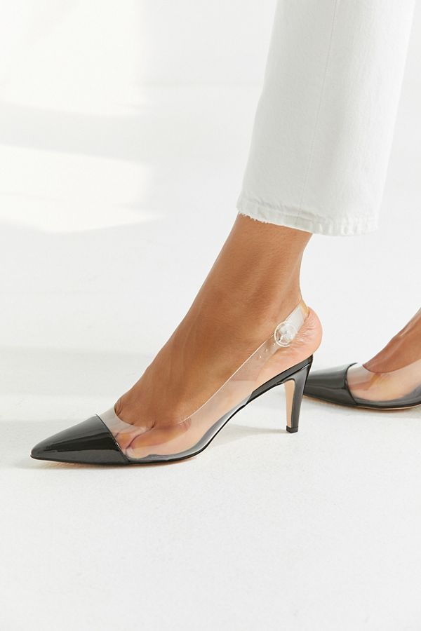 0188150a4 UO Clear Slingback Kitten Heel | Urban Outfitters
