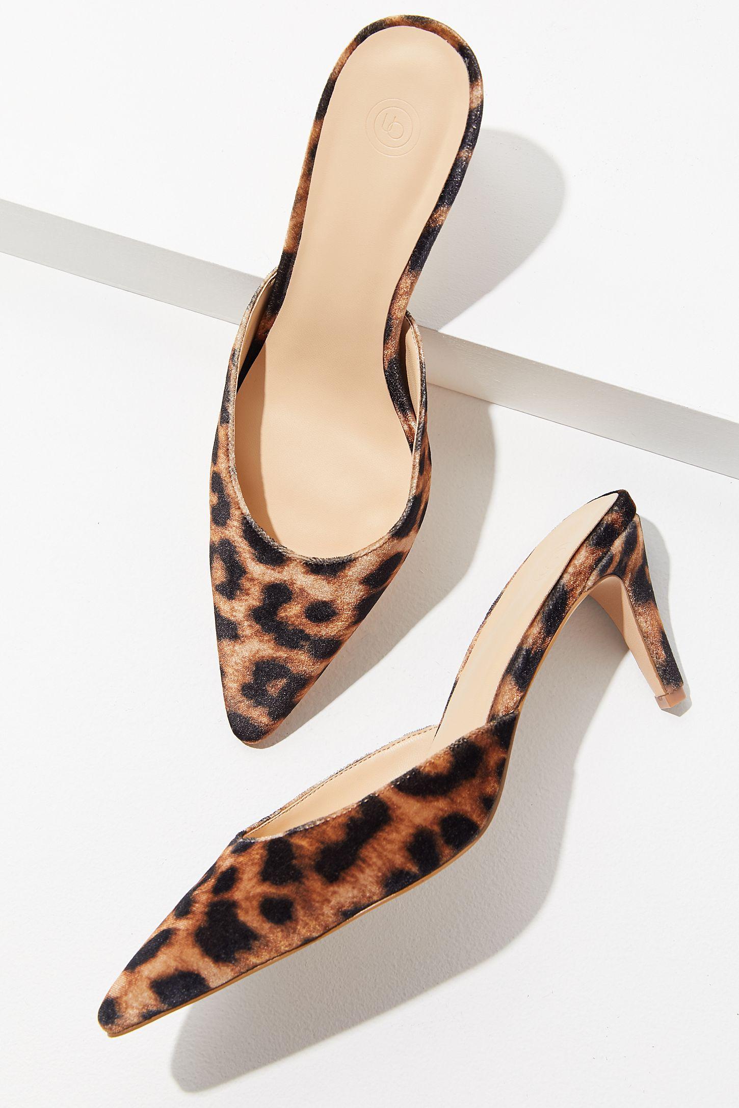 e5c5bce075e UO Leopard Kitten Heel Mule