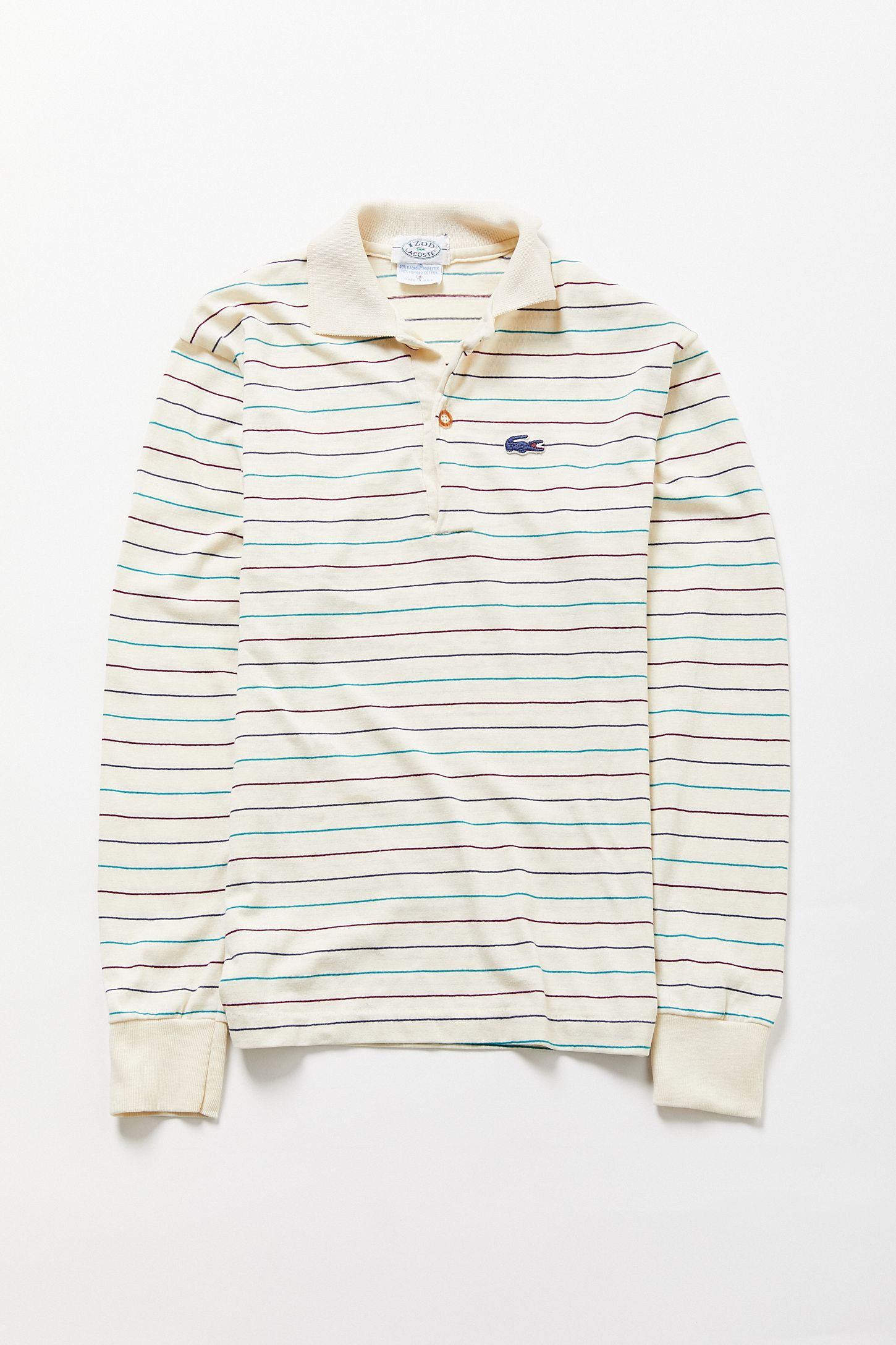 8a683638 Vintage Lacoste Long Sleeve Striped Polo Shirt. Tap image to zoom. Hover to  zoom. Double Tap to Zoom