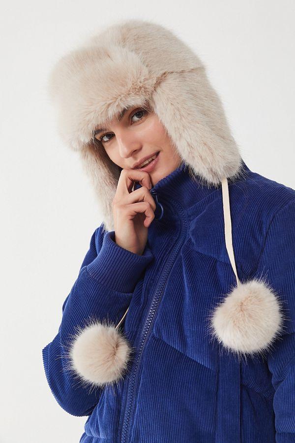 50afbc98070 Snowball Faux Fur Trapper Hat