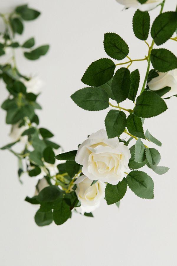 Slide View: 3: Decorative Rose Vine Garland