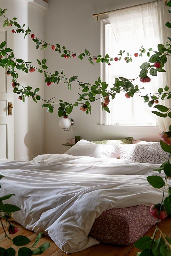 Slide View: 1: Decorative Rose Vine Garland