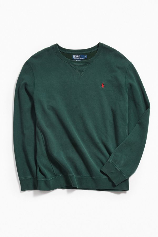 87011bef9 Vintage Polo Ralph Lauren Green Pullover Sweatshirt