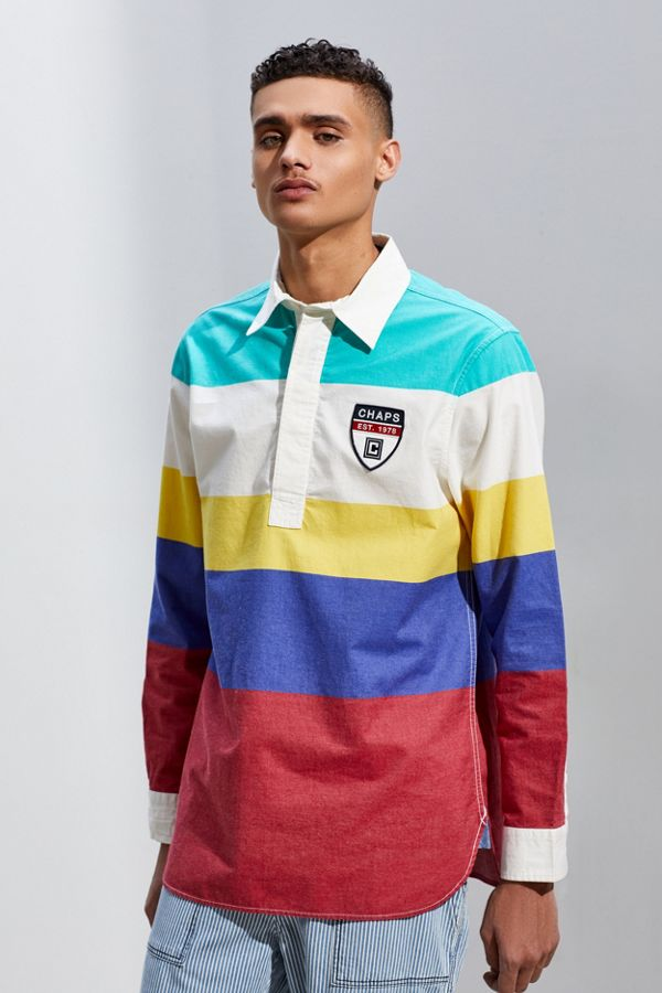 fb461439a7c Chaps Horizontal Stripe Rugby Shirt | Urban Outfitters