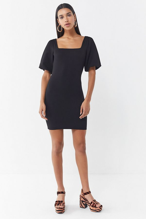 7c81709071ea UO Holly Puff Sleeve Bodycon Dress | Urban Outfitters