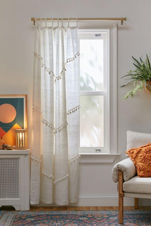 Slide View: 1: Greta Fringed Window Panel