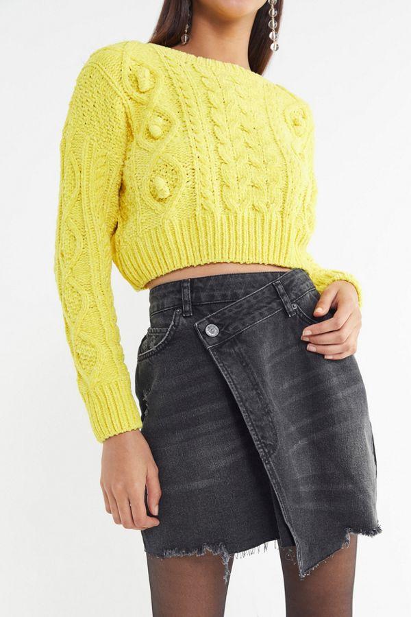 6d8e8d048c7d BDG Denim Mini Wrap Skirt   Urban Outfitters