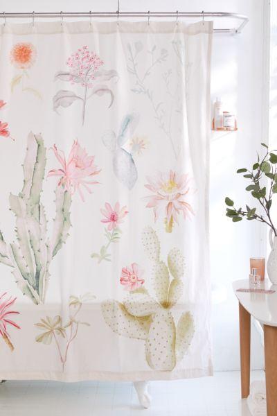 Desert Flora Shower Curtain Urban Outfitters