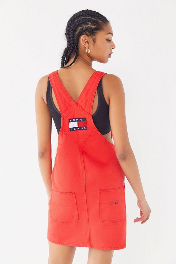 26e08fd2f0a Tommy Jeans Denim Mini Overall Dress