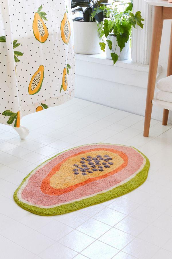 Slide View: 1: Papaya Bath Mat