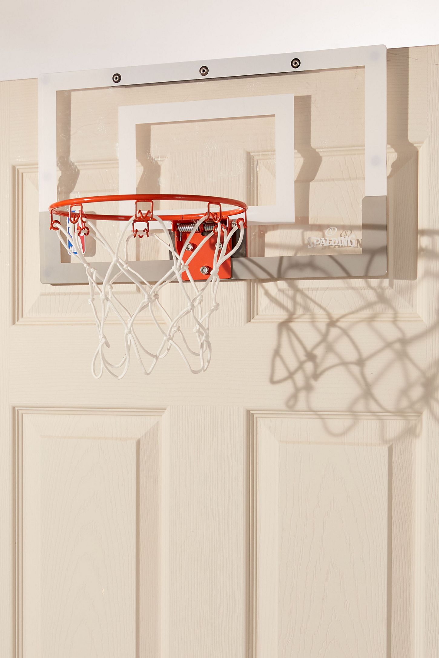 Slide View 3 Spalding Over The Door Slam Dunk Mini Basketball Hoop