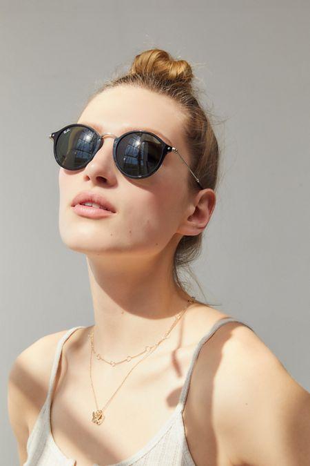 c7cd67dcd828 Ray-Ban Round Fleck Sunglasses. Quick Shop