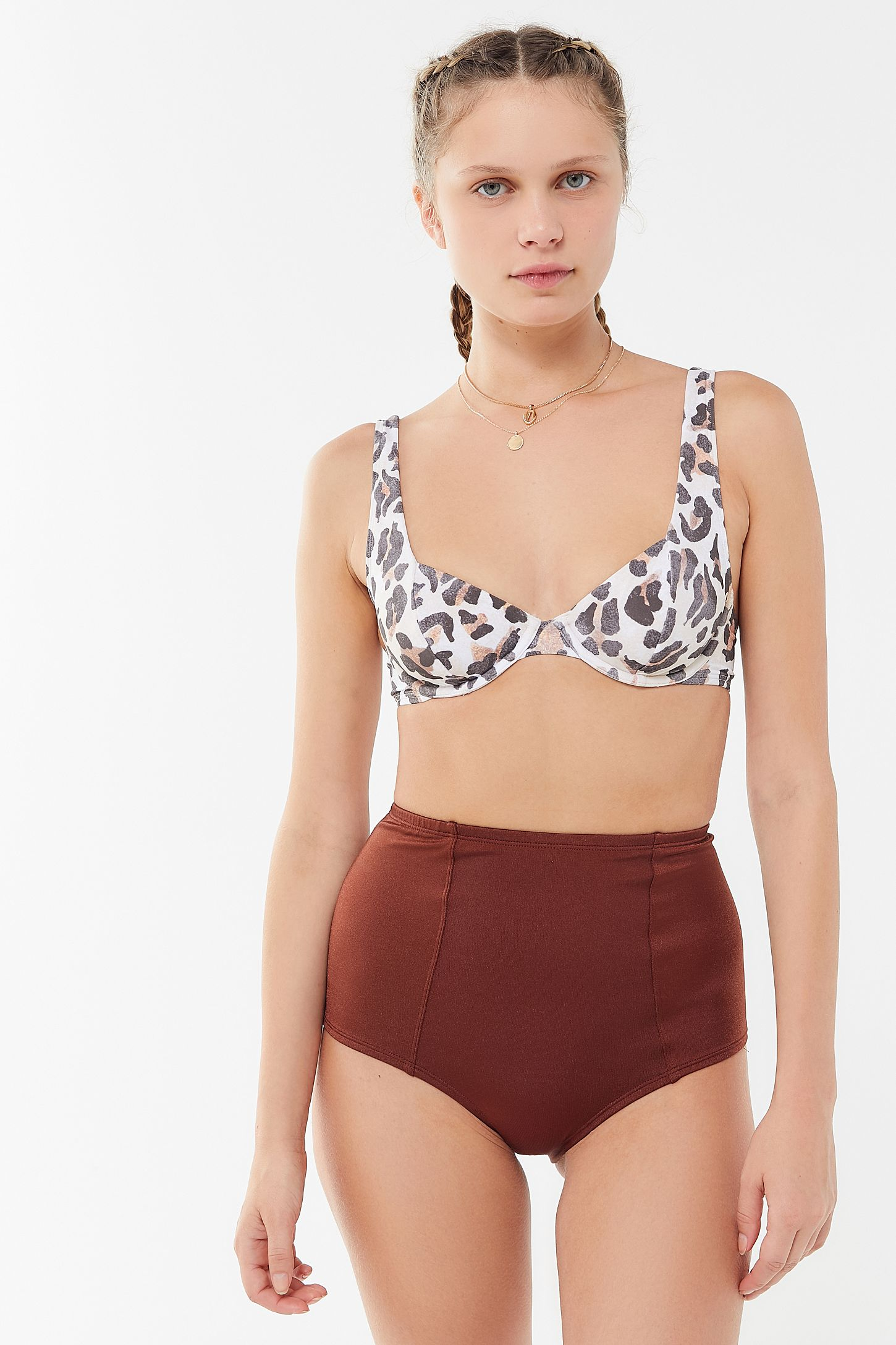 3b13913c331108 Out From Under Printed Tulip Underwire Bikini Top | Urban Outfitters