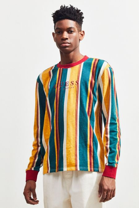 d7f3ab74c35d4 GUESS Sayer Stripe Long Sleeve Tee