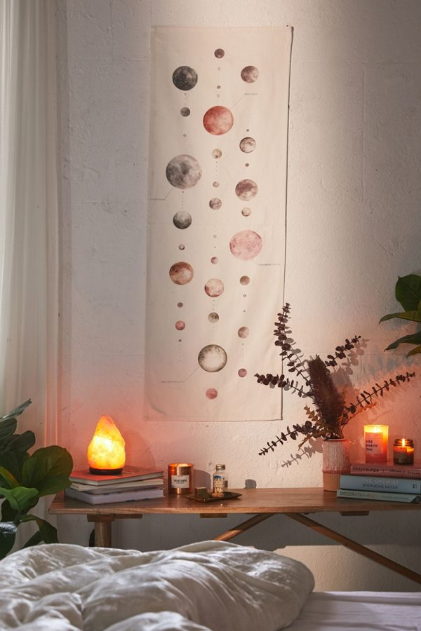 Watercolor Lunar Chart Tapestry Urban Outfitters