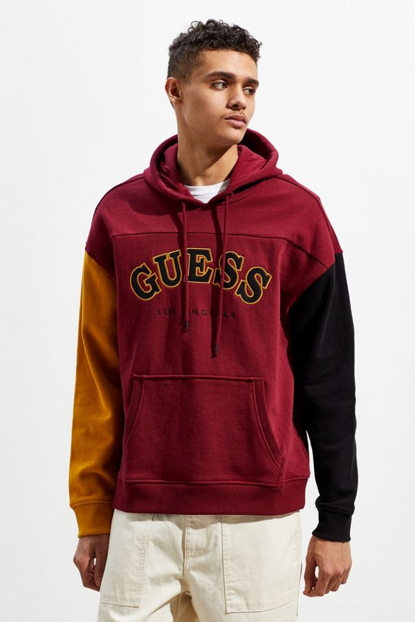 10f37c4403e1 GUESS UO Exclusive Roy Colorblock Hoodie Sweatshirt | Urban Outfitters