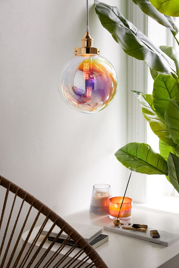 new product 31b13 b3113 Rainbow Blown Glass Bubble Pendant Light