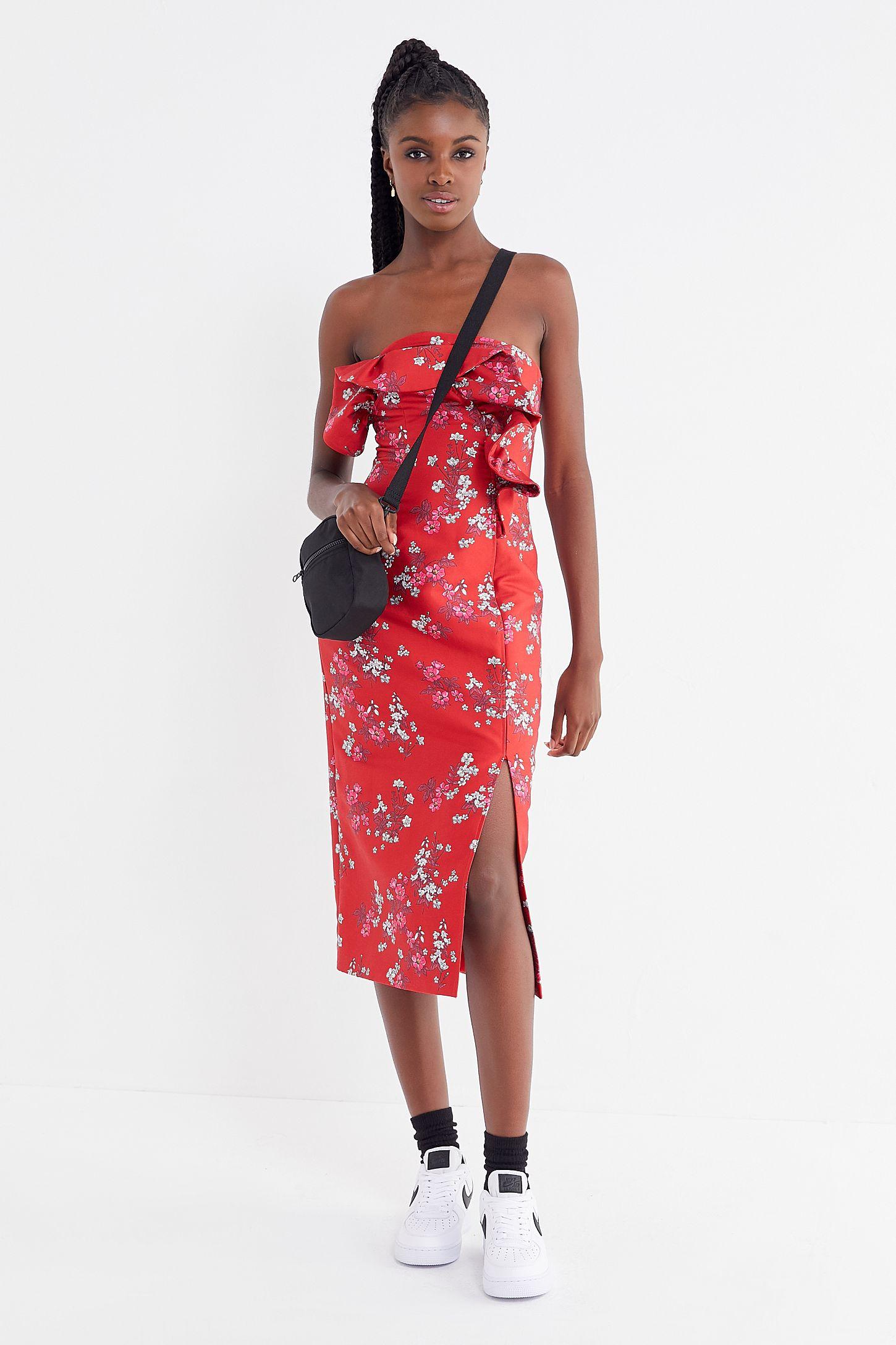 9bf02b7455b Slide View  4  Keepsake Heart + Soul Floral Strapless Midi Dress
