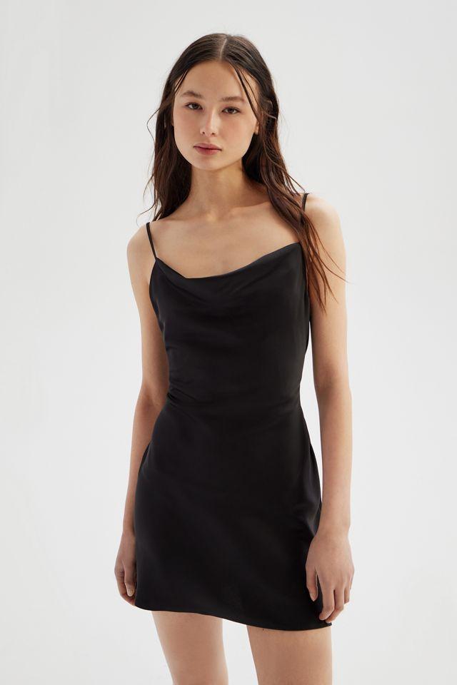 UO Mallory Cowl Neck Slip Dress