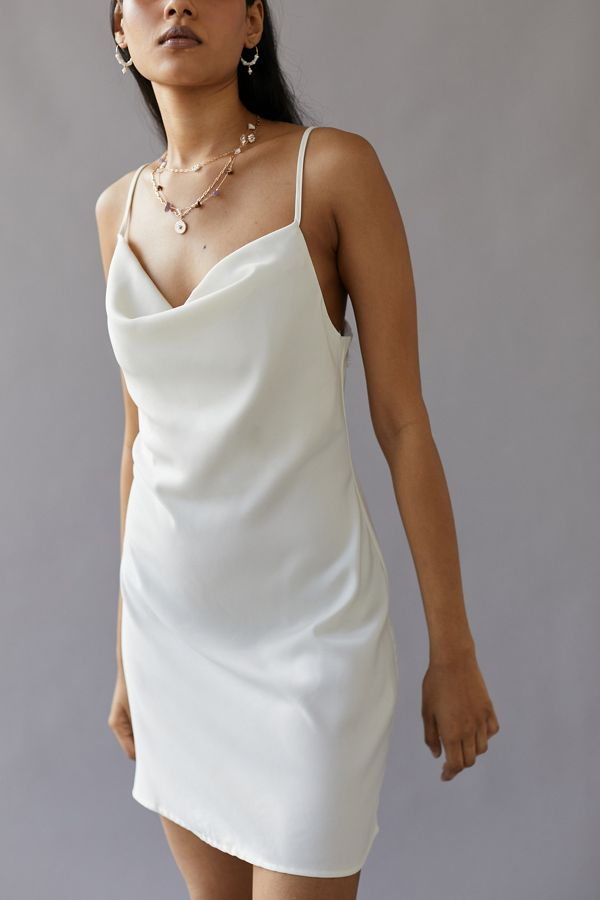 409bafbabf5f UO Mallory Cowl Neck Slip Dress | Urban Outfitters