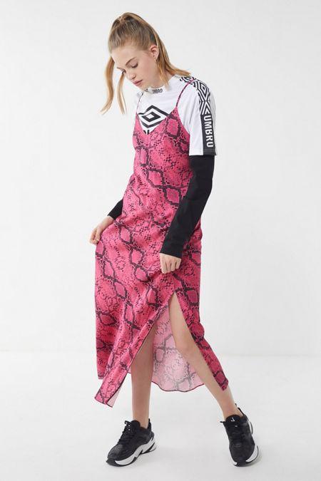 09978648dbb23 UO Snake Print Maxi Slip Dress