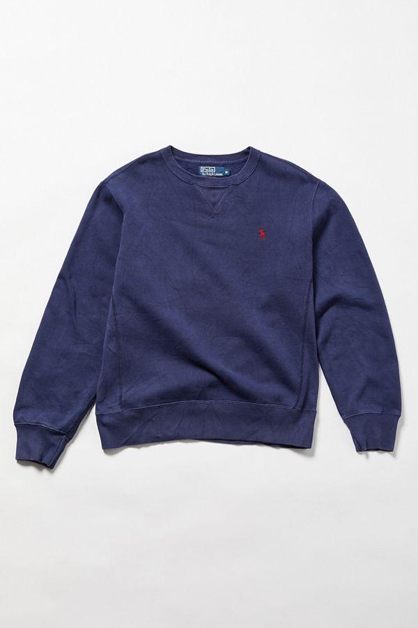 Vintage Polo Ralph Lauren Navy Crew Neck Sweatshirt