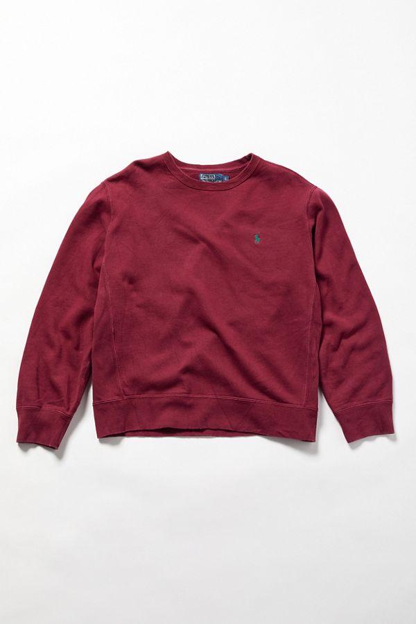 b2be5cc1 Vintage Polo Ralph Lauren Burgundy Crew-Neck Sweatshirt