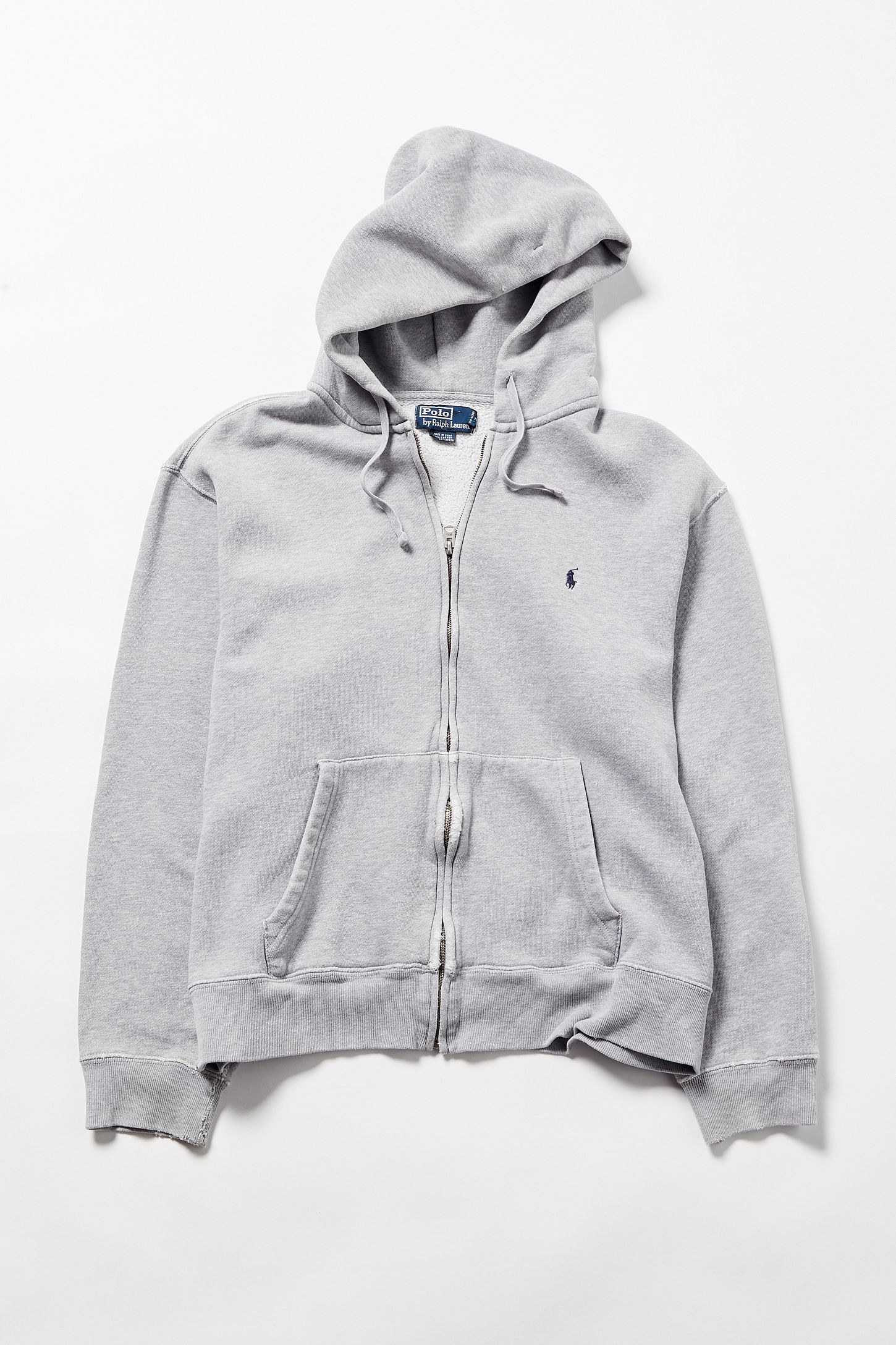 a3bc72847 Vintage Polo Ralph Lauren Grey Zip-Front Hoodie Sweatshirt. Tap image to  zoom. Hover to zoom. Double Tap to Zoom
