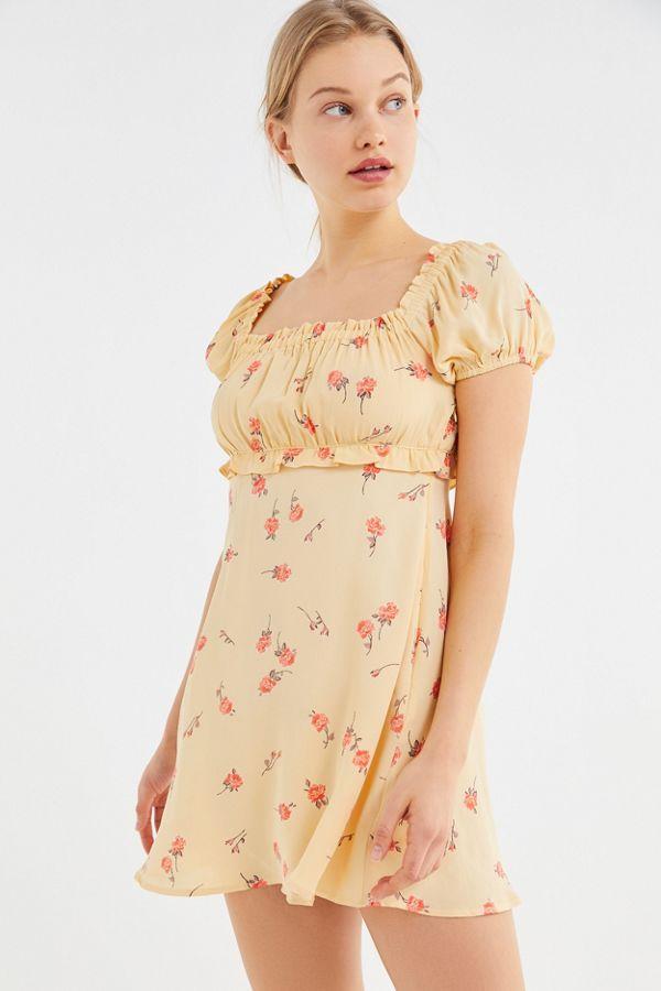 3fa3c6dab7708 Flynn Skye Lou Floral Puff Sleeve Mini Dress | Urban Outfitters